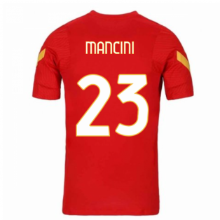 2020-2021 AS Roma Nike Training Shirt (Red) (MANCINI 23)