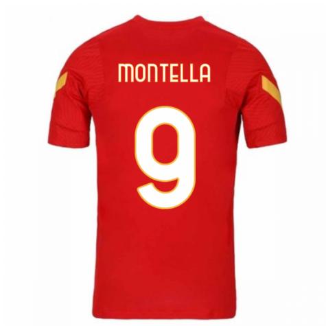 2020-2021 AS Roma Nike Training Shirt (Red) (MONTELLA 9)