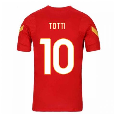 2020-2021 AS Roma Nike Training Shirt (Red) (TOTTI 10)