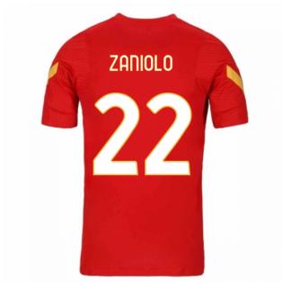 2020-2021 AS Roma Nike Training Shirt (Red) (ZANIOLO 22)