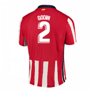 2020-2021 Atletico Madrid Authentic Vapor Home Shirt (GODIN 2)