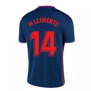 2020-2021 Atletico Madrid Away Nike Shirt (Kids) (M LLORENTE 14)
