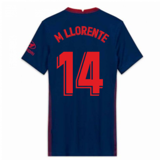2020-2021 Atletico Madrid Away Nike Shirt (Ladies) (M LLORENTE 14)