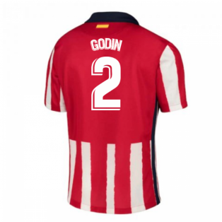 2020-2021 Atletico Madrid Home Nike Football Shirt (GODIN 2)