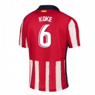 2020-2021 Atletico Madrid Home Nike Football Shirt (KOKE 6)