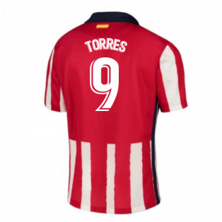 2020-2021 Atletico Madrid Home Nike Football Shirt (TORRES 9)