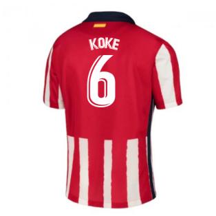 2020-2021 Atletico Madrid Home Nike Shirt (Kids) (KOKE 6)