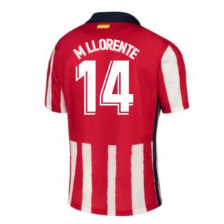 2020-2021 Atletico Madrid Home Nike Shirt (Kids) (M LLORENTE 14)