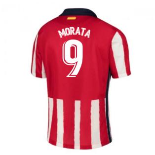 2020-2021 Atletico Madrid Home Nike Shirt (Kids) (MORATA 9)
