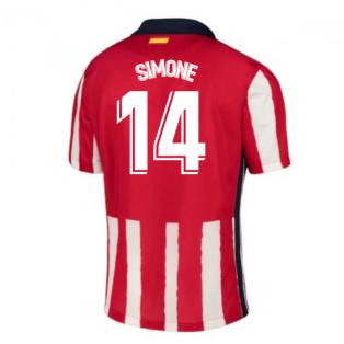 2020-2021 Atletico Madrid Home Nike Shirt (Kids) (SIMONE 14)