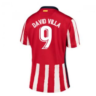 2020-2021 Atletico Madrid Home Nike Shirt (Ladies) (DAVID VILLA 9)