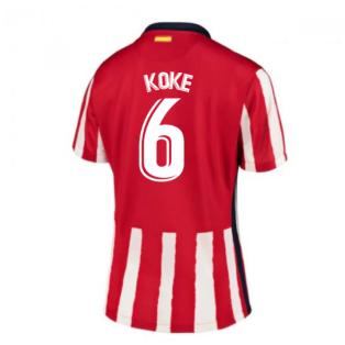 2020-2021 Atletico Madrid Home Nike Shirt (Ladies) (KOKE 6)