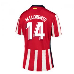2020-2021 Atletico Madrid Home Nike Shirt (Ladies) (M LLORENTE 14)