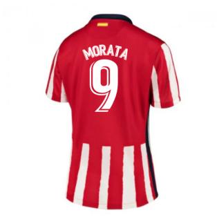 2020-2021 Atletico Madrid Home Nike Shirt (Ladies) (MORATA 9)