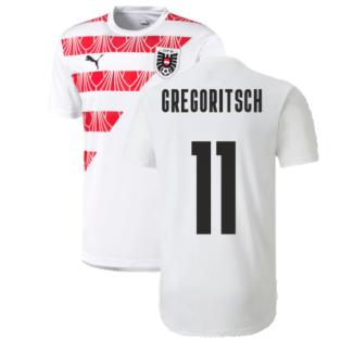2020-2021 Austria Stadium Jersey (White) (GREGORITSCH 11)