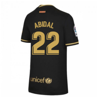 2020-2021 Barcelona Away Nike Shirt (Kids) (ABIDAL 22)