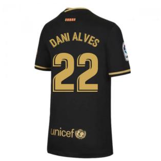2020-2021 Barcelona Away Nike Shirt (Kids) (DANI ALVES 22)
