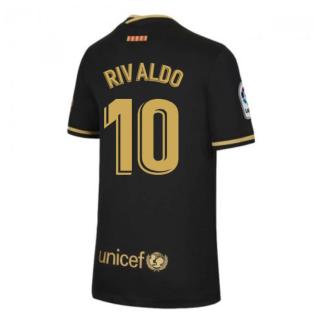2020-2021 Barcelona Away Nike Shirt (Kids) (RIVALDO 10)