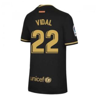 2020-2021 Barcelona Away Nike Shirt (Kids) (VIDAL 22)