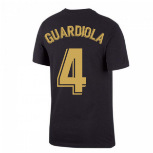 2020-2021 Barcelona Ground Tee (Black) (GUARDIOLA 4)