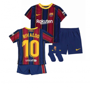 2020-2021 Barcelona Home Nike Baby Kit (RIVALDO 10)