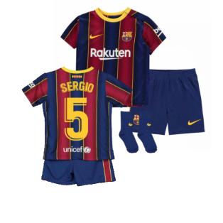 2020-2021 Barcelona Home Nike Baby Kit (SERGIO 5)