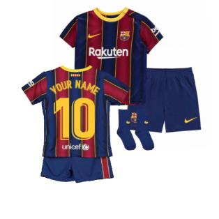2020-2021 Barcelona Home Nike Baby Kit (Your Name)