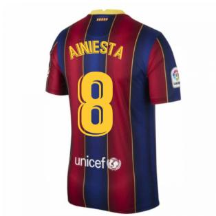 2020-2021 Barcelona Home Shirt (A.INIESTA 8)