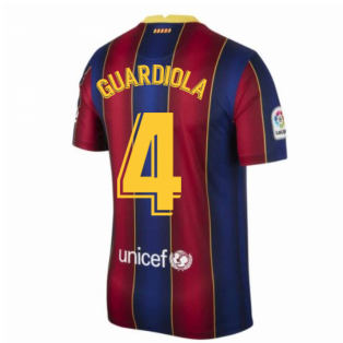 2020-2021 Barcelona Home Shirt (GUARDIOLA 4)