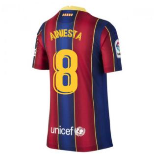 2020-2021 Barcelona Home Shirt (Kids) (A.INIESTA 8)