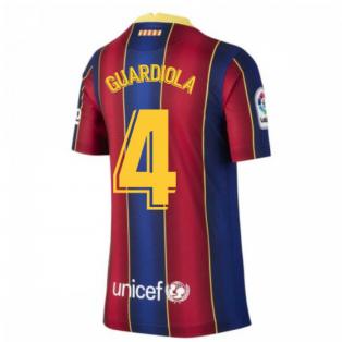 2020-2021 Barcelona Home Shirt (Kids) (GUARDIOLA 4)