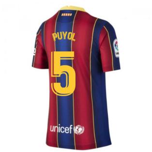2020-2021 Barcelona Home Shirt (Kids) (PUYOL 5)