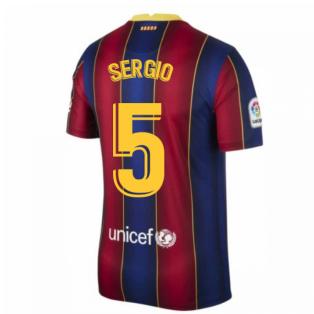 2020-2021 Barcelona Home Shirt (SERGIO 5)