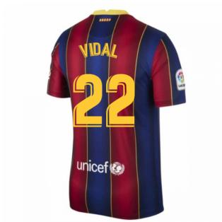 2020-2021 Barcelona Home Shirt (VIDAL 22)