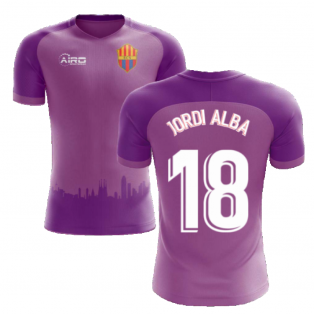 2020-2021 Barcelona Third Concept Football Shirt (Jordi Alba 18) - Kids