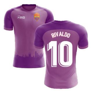 2020-2021 Barcelona Third Concept Football Shirt (Rivaldo 10) - Kids