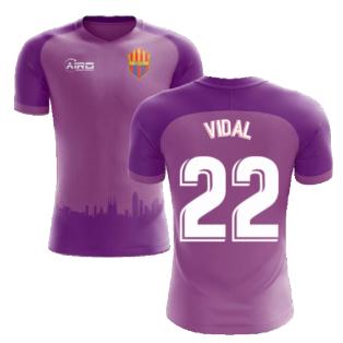 2020-2021 Barcelona Third Concept Football Shirt (Vidal 22) - Kids