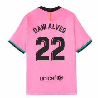 2020-2021 Barcelona Third Nike Football Shirt (DANI ALVES 22)