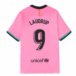 2020-2021 Barcelona Third Nike Football Shirt (LAUDRUP 9)