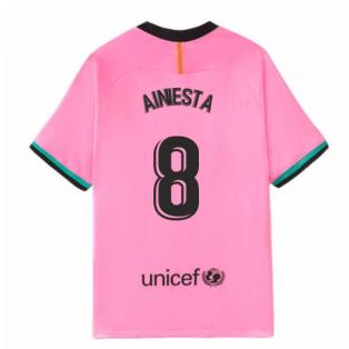 2020-2021 Barcelona Third Nike Shirt (Kids) (A.INIESTA 8)