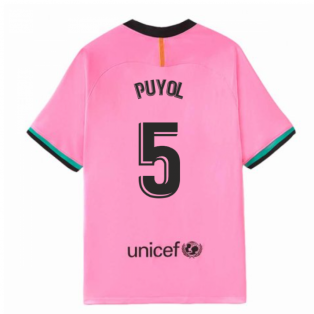 2020-2021 Barcelona Third Nike Shirt (Kids) (PUYOL 5)