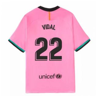 2020-2021 Barcelona Third Nike Shirt (Kids) (VIDAL 22)