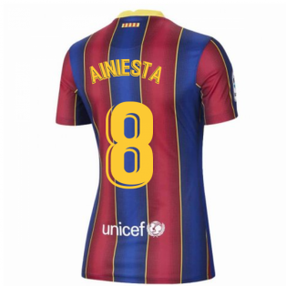 2020-2021 Barcelona Womens Home Shirt (A.INIESTA 8)