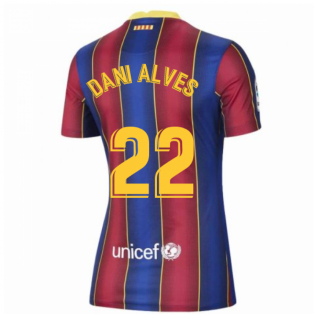 2020-2021 Barcelona Womens Home Shirt (DANI ALVES 22)