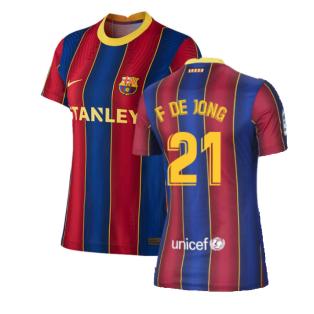 2020-2021 Barcelona Womens Home Shirt (F DE JONG 21)
