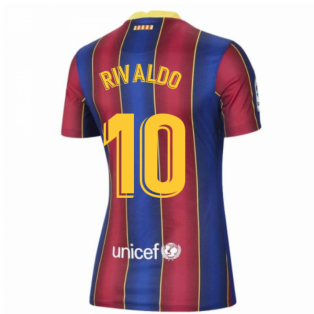 2020-2021 Barcelona Womens Home Shirt (RIVALDO 10)