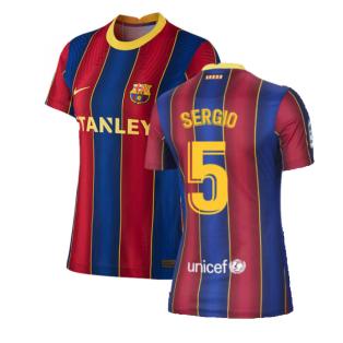 2020-2021 Barcelona Womens Home Shirt (SERGIO 5)