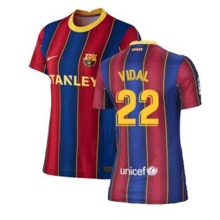 2020-2021 Barcelona Womens Home Shirt (VIDAL 22)