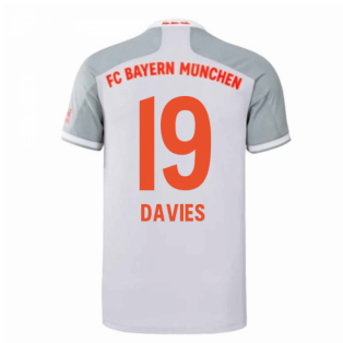 2020-2021 Bayern Munich Adidas Away Football Shirt (DAVIES 19)