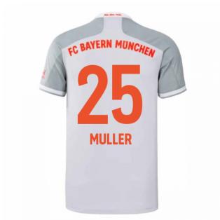 2020-2021 Bayern Munich Adidas Away Shirt (Kids) (MULLER 25)